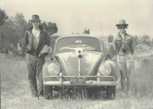 John and India as Indiana Jones pursuing microfossils, 1985