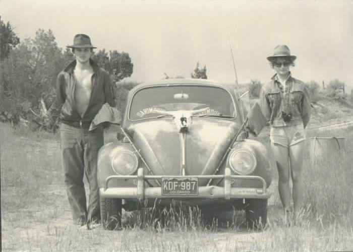 India Wood and John Tichotsky set out for a day of fossil collecting, 1985