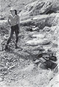 India at allosaurus site, 1982
