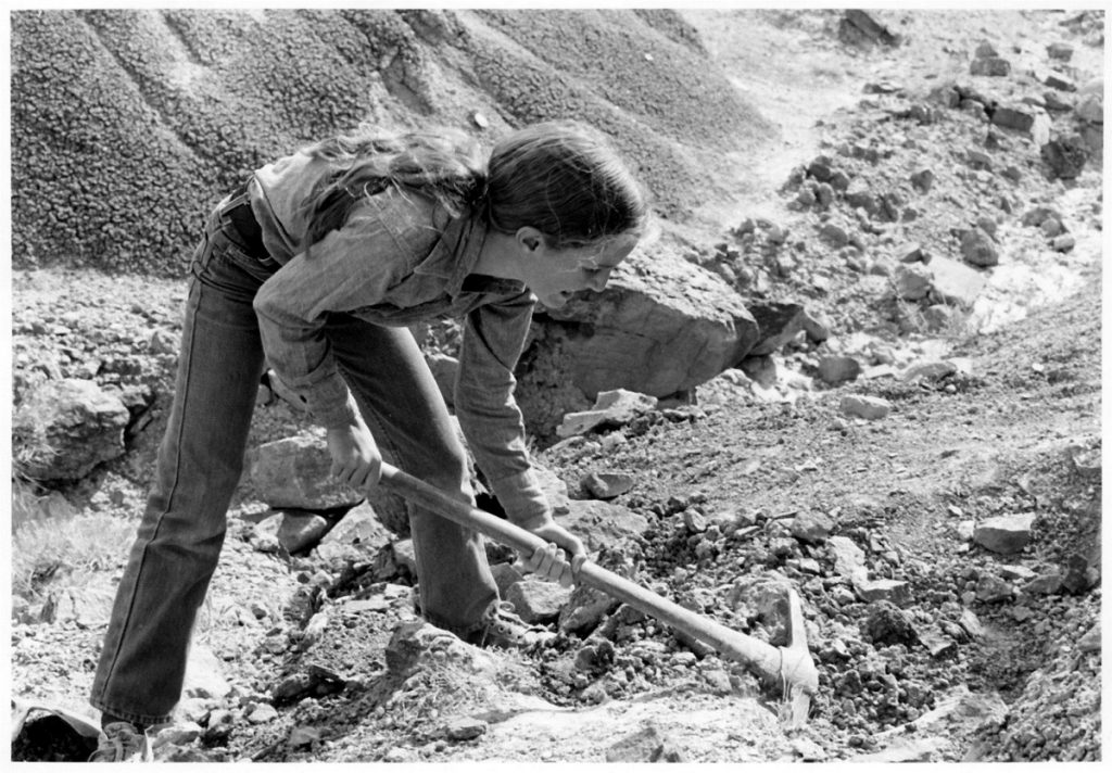 India Wood digging dinosaurs at age 12, 1979.