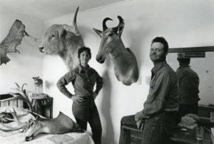 Minford and Judy, who ran Sage Springs Ranch, 1976