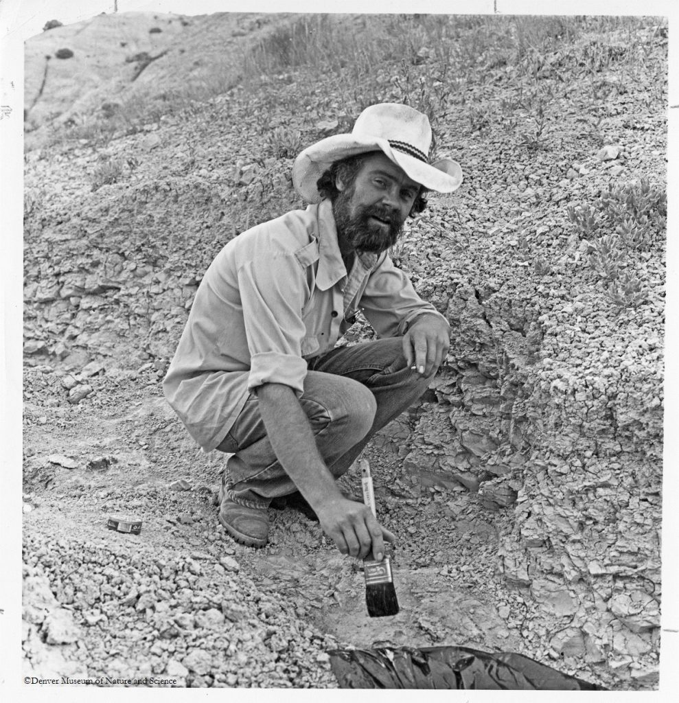 Don Lindsey, curator of paleontology at the DMNS 1971-84