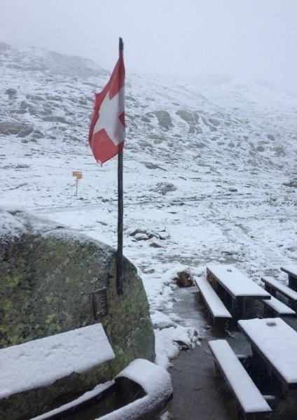 The morning of my hiking departure from Gletscherstube Märjelen near Aletsch Glacier