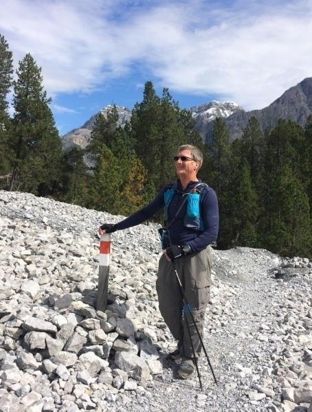 Paul on Val Minger trail with India