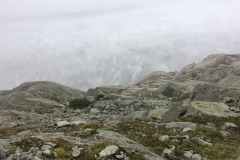 The Aletsch Glacier beyond, lurking like an ice beast
