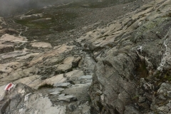 Aletsch Glacier trail, don't miss those little red-and-white trail blazes!