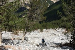 This avalanche runs each year, obliterating the trail in Val Minger