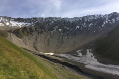 Val Trupchin, Swiss National Park, with Mars-like debris flows