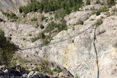 Aletsch Glacier trail, now over a bridge since glacier melted north