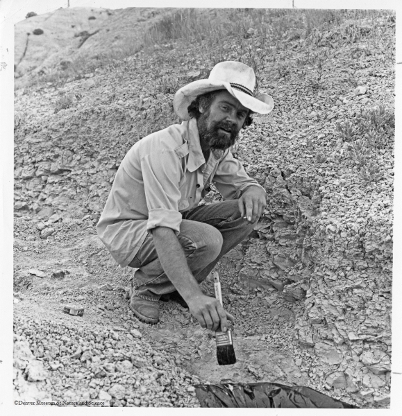 Don Lindsey, curator of paleontology at the DMNS from 1971 to 1984