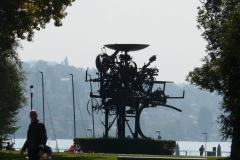 Sculpture of industrial parts, Zurich
