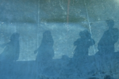 Shadows in a stainless steel pool, Not Vital, Sent