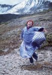Nancy Wood dancing atop Independence Pass, 1997